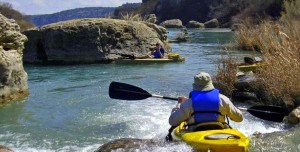kayaking and canoeing on the llano river